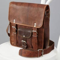 Brown Leather College Bags