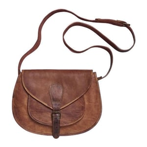 Leather Buckle Saddle Bags
