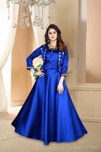 Fancy Cotton Gown For Women