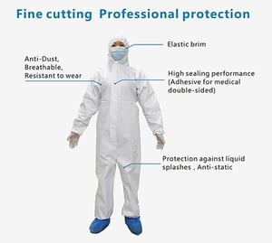 Personal Protection Isolation Gown