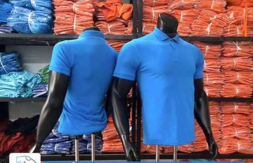 Plain Mens Collared T-Shirt