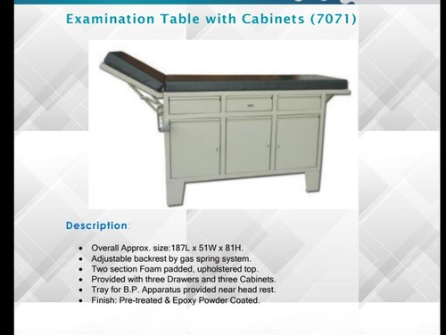 Examination Table With Cabinets (7071)