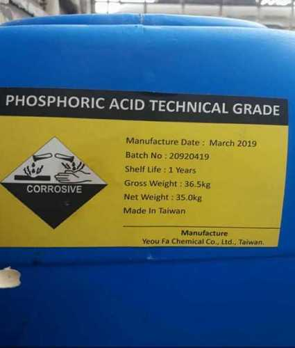 Technical Grade Phosphoric Acid Application: Industrial