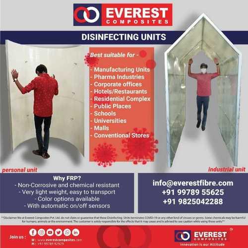 Everest Prefab Sanitization Walkway Type Tunnel Disinfection Unit