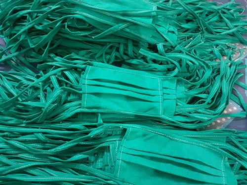 Green Color Cotton Mask