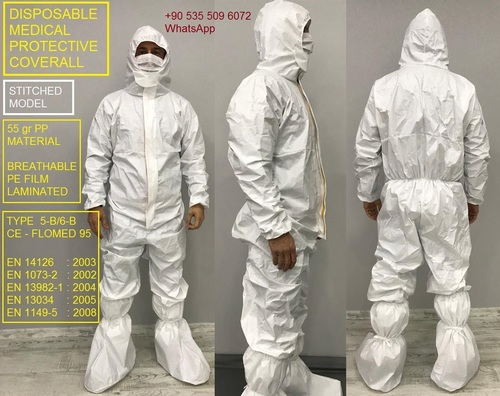 Disposable Medical Stitched Model Coverall Suite