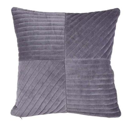 Square Shape Grey Color Throw Pillow Certifications: Sedex - Empowering Responsible Supply Chains