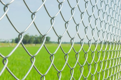 Galvanized Chain Link Fencing Application: Sports Field