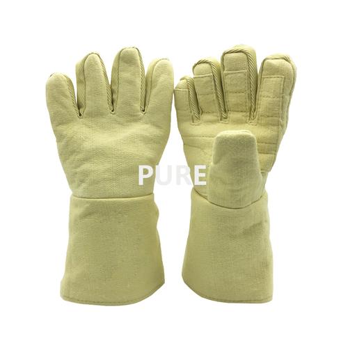 Plain Yellow Kevlar Safety Gloves