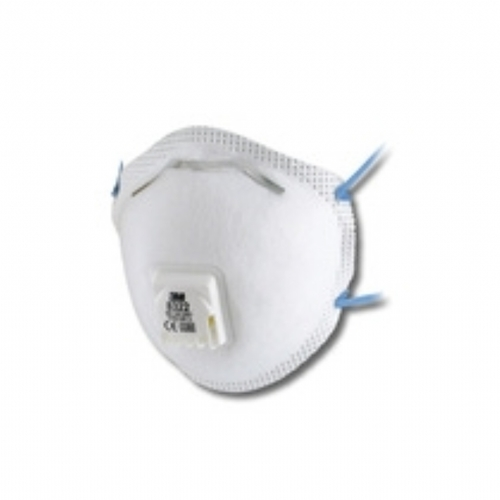 8322 FFP2 Cup Shaped Valved Dust Mist Respirator Pack of 10