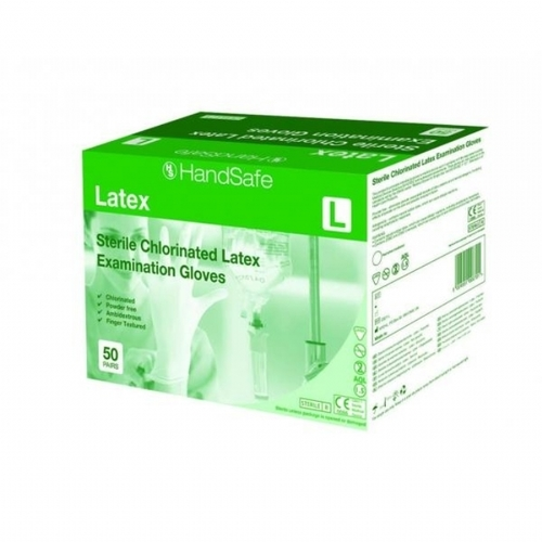 GS21 Sterile Latex Powder Free Chlorinated Gloves