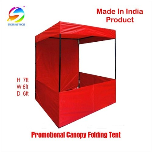Signistics Promotional Canopy Folding Tent Red 6x6x7ft At Price