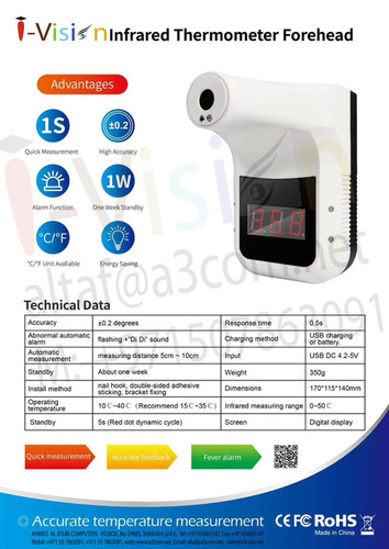 Digital Thermal Camera Infrared Thermometer
