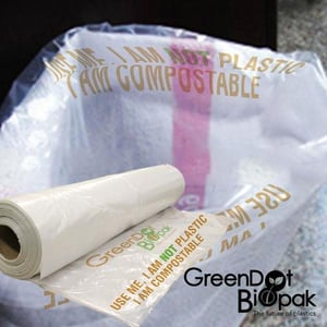 Carry Bag on Roll - 100% Compostable