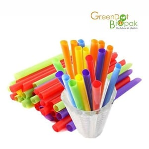 100% Compostable Milky and Natural Fiber Straw