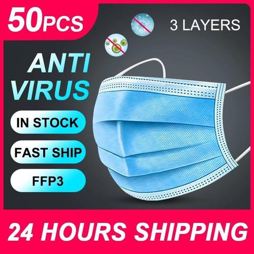 3 Ply Nonwoven Surgical Disposable Face Mask