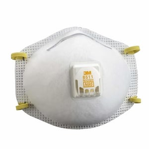 3M 8511, N95 Particulate Respirator with Valve