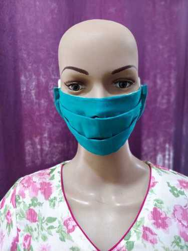 Double Fabric Cotton Face Mask Length: 9 Inch (in)