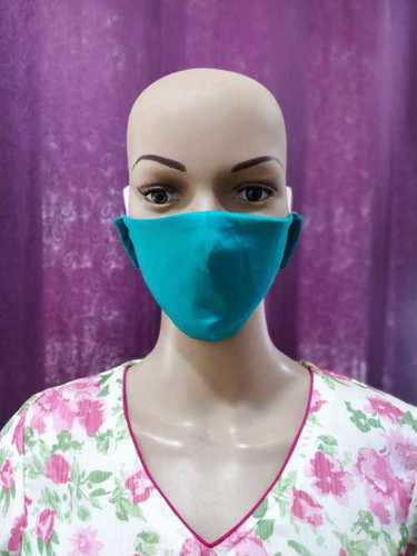 Fitted Double Fabric Cotton Face Mask Application: Infection Safety