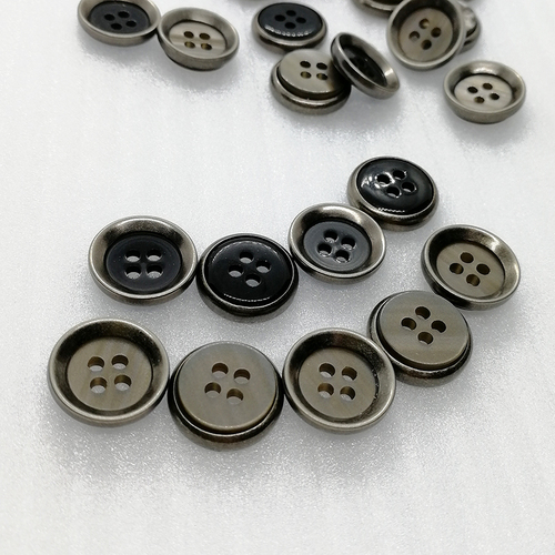15mm 4 Holes Bowl Shape Metal & Plastic Combination Sewing Button Hd227-19