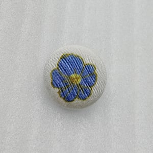 18mm Beauty Color Custom Flower Printed Decoration Fabric Covered Light-Weight Hand Sewing Button HD312-19