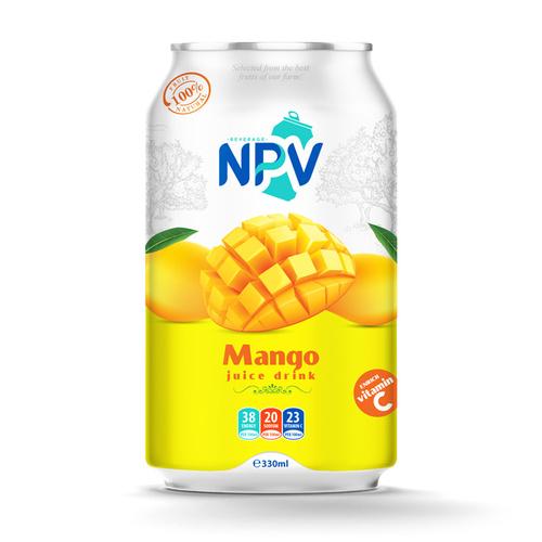 330ML Aluminum Canned Mango Juice