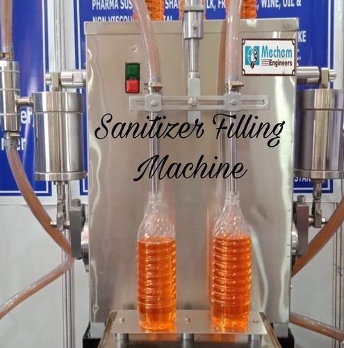 Semi Automatic Sanitizer Filling Machine