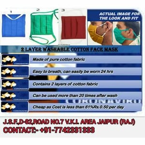 2 Layer Washable Cotton Face Mask