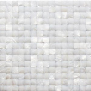 3d Square White Mother Of Pearl Shell Mosaic Tile