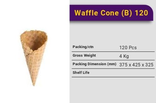 Ice Cream Waffle Cone B 120