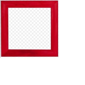 Decorative Red Picture Frames
