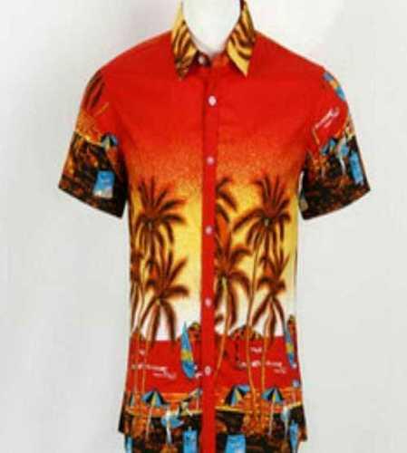Mens Half Sleeve Printed Hawaiian Shirts Age Group: Adult