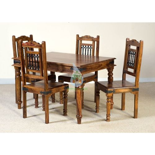 Indian Wooden Jali Style Dining Table