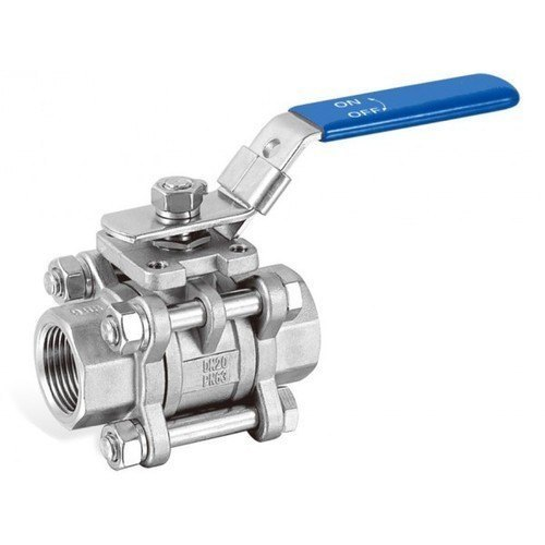Stainless Steel High Pressure 3 Pc Ball Valve For Water