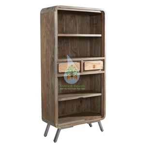 Modern Solid Wood Bookshelf Bookcase for Home