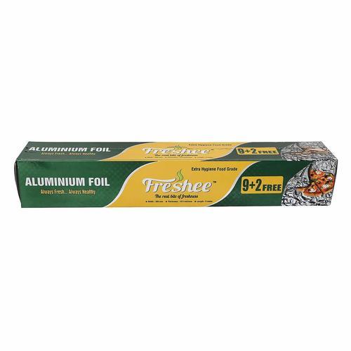 Freshee 9 Plus 2 Meter, Aluminium Silver Kitchen Foil Roll Paper