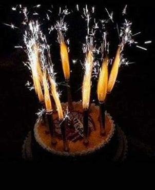 Sparkler Birthday Party Candle