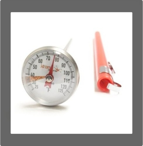 1 Inch Dial Thermometer And 5 Inch Stem