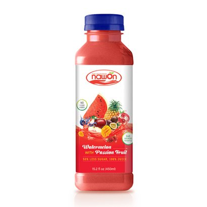 450Ml Nawon Bottle Watermelon With Passion Fruit Juice Certifications: Halal