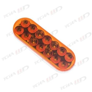 6 Inch Oval Red 10 LED Brake Stop Turn Trailer Tail Truck Light