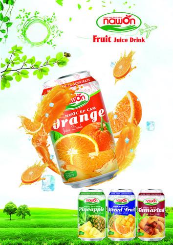 NAWON Orange Juice Fruit Juice Drink 330ML x 24