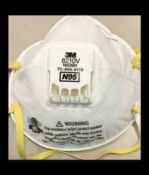 3M 8210 Mask With Exhalation Vent Valve
