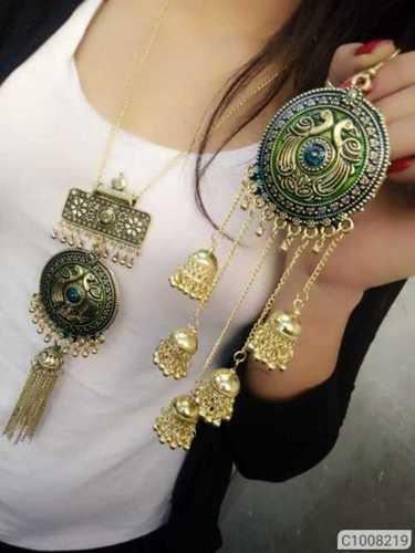 Artificial Oxidized Necklace Set