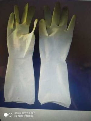 White Color Disposable Hand Gloves