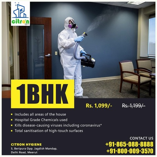 Disinfecting And Sanitizing Services For Homes (1 BHK)