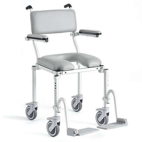 Folding Compact Roll In Shower Commode Chair Design: Board