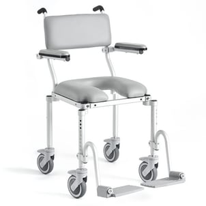 Folding Compact Roll In Shower Commode Chair