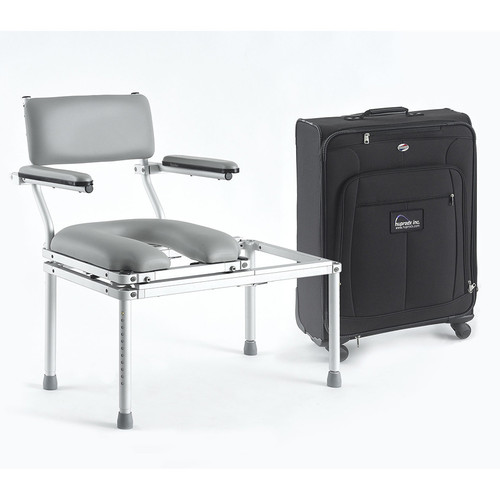 Multi Chair Portable Tub Transfer System With Carry Bag Adjustable Height