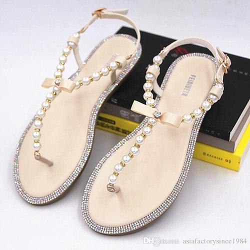 Stone Beaded Sandals For Daily Use