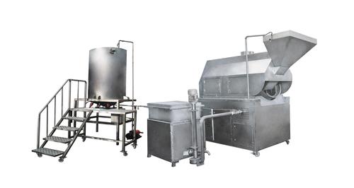 Line Batch Fryer Machine